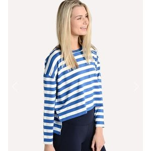 Tori Burch Sport performance striped long sleeve